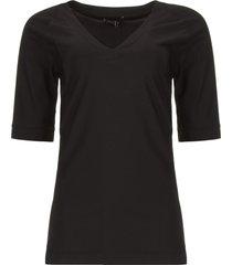travelwear v-hals top vertigo  zwart