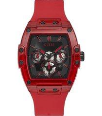 reloj guess phoenix gw0203g5 - rojo