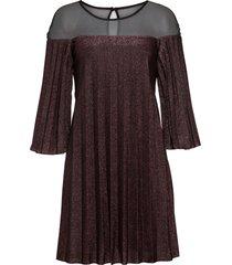 abito lucido plissettato (viola) - bodyflirt boutique