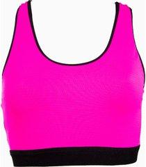 top fitness banana rosa top esportivo dupla face pink