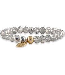 pulsera gris perlas buckley london