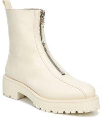 sam edelman women's jacquie zip-front lug sole booties women's shoes