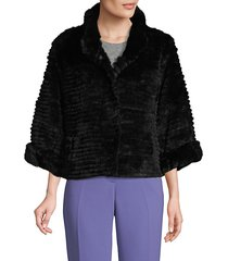 rabbit fur bolero jacket