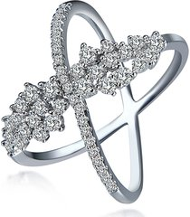 anello di lusso delle donne anello in zircone di platino