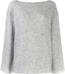 3.1 phillip lim lofty boat neck pullover - grey