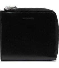 jil sander debossed logo compact wallet