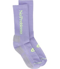aries logo-print socks - purple