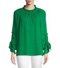 kobi halperin women's ramone blouse - cyan blue - size xs