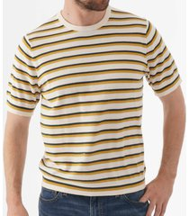 ps by paul smith striped crew neck t-shirt - ivory m2r-067t-a20534