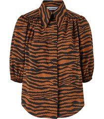 blus java tiger puff shirt