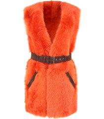 alberta ferretti shearling jacket