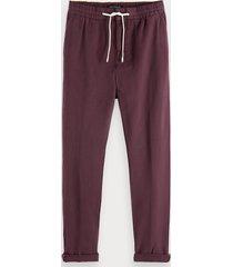 scotch & soda warren - cotton-linen trousers regular straight fit