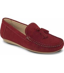 mocasines bianka rojo para mujer croydon