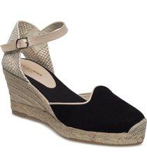 espadrille flat sandalette med klack espadrilles beige ilse jacobsen