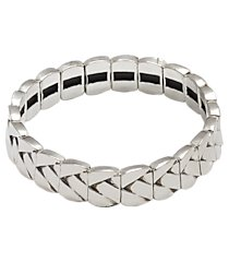 jos. a. bank silver-tone stretch bracelet clearance