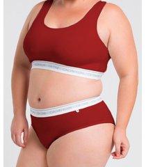 top plus size básico ck one vermelho underwear calvin klein - 1xl