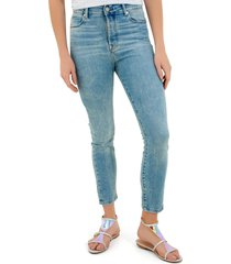 calça rosa chá arlene jeans azul feminina (jeans claro, 50)