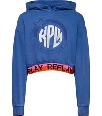 jumper back to school hoodie trui blauw replay