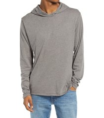 men's alternative longline pullover sleep hoodie, size x-small - grey