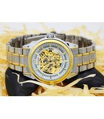 reloj- mira dandong hueco movimiento transparente-dorado