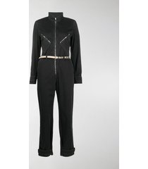 stella mccartney stella logo denim jumpsuit