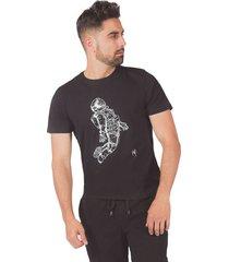 camiseta pmp slim estampacion propia astronauta negra