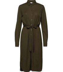 visafina midi l/s dress - noos knälång klänning grön vila