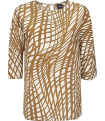 aspesi all-over printed blouse