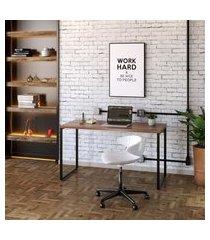 mesa de escritório kuadra nogal 135 cm