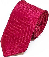 gravata concetto semi slim marsala - rosa - masculino - dafiti