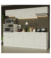 cozinha completa madesa onix 240001 com armário e balcão branco branco
