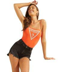 body reflective neon logo bodysuit naranjo guess