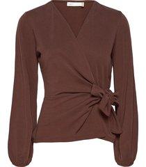 catjaiw blouse blouse lange mouwen bruin inwear