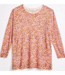 loft petite floral drop shoulder sweater