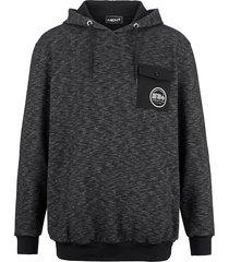 sweatshirt men plus zwart::wit