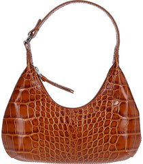 brown leather amber shoulder bag