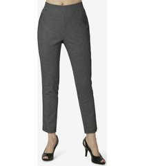 women's pull on pants with faux pockets