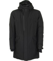 herno long black down jacket