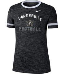 nike women's vanderbilt commodores slub fan ringer t-shirt