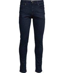 slhslim-leon 6155 bb super st jns j noos slimmade jeans blå selected homme