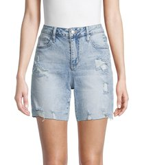 joe's jeans women's distressed denim bermuda shorts - pleasure - size 25 (2)