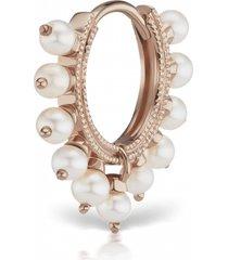 8mm pearl coronet earring - rose gold