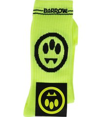 fluo yellow cotton socks