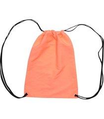 tula deportiva unicolor color naranja, talla uni