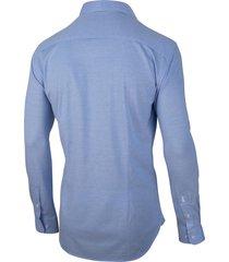 cavallaro cavallaro overhemd franti jersey stretch blauw 110211006