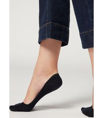 calzedonia invisible low cut socks woman blue size 34-36