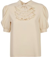 see by chloé ruffled detail short-sleeve top