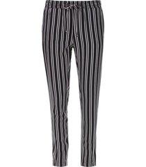 pantalón doble rayas color negro, talla 14