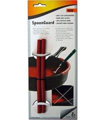 aparadores de colher em silicone para panelas cooks innovations c1440 vermelho