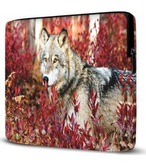 capa para notebook lobo 15 polegadas - vermelho - dafiti